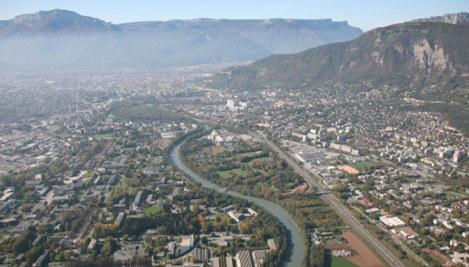 L'Isère au niveau du Domaine Universitaire