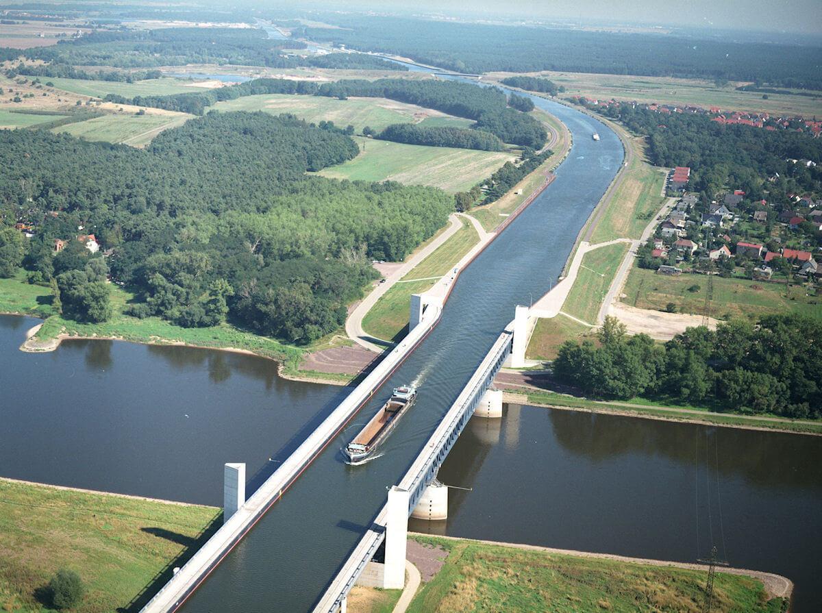Le pont canal de Magdebourg