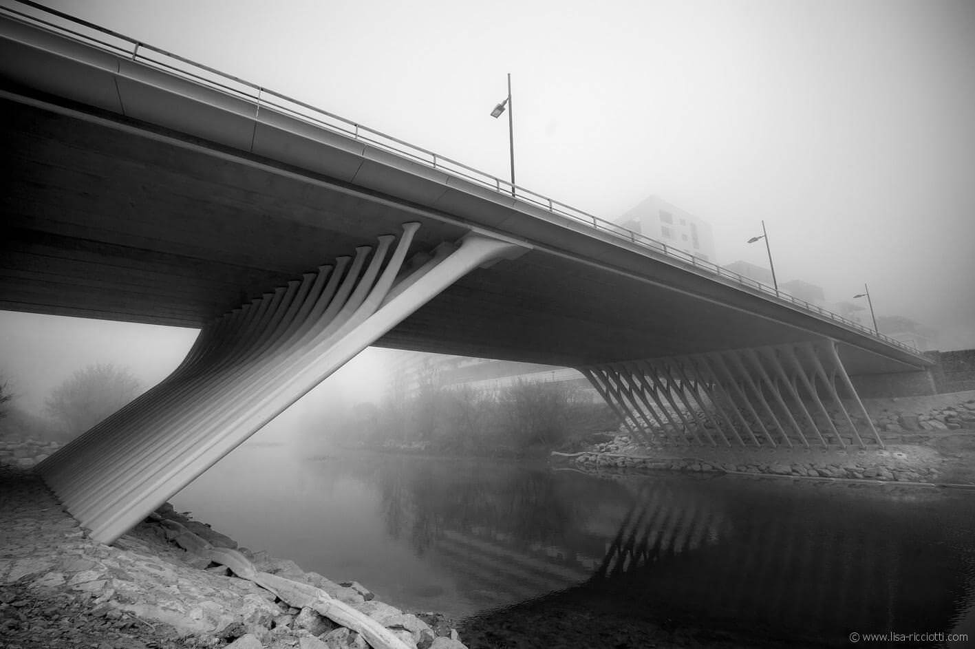 Le pont de la République à Montpellier