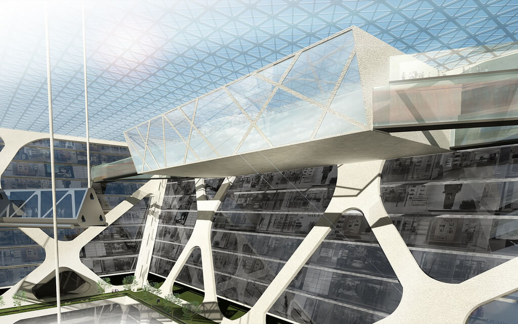 premiers étages de l'Earthscraper