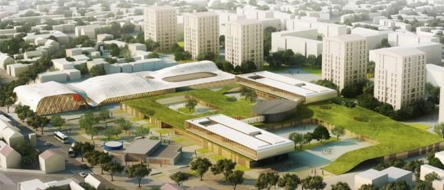 un campus scolaire et sportif pensé comme bâtiments