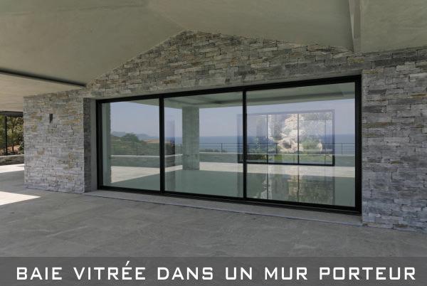 Ouverture de baie dans mur porteur ab engineering paris - Ouverture sur un mur porteur ...
