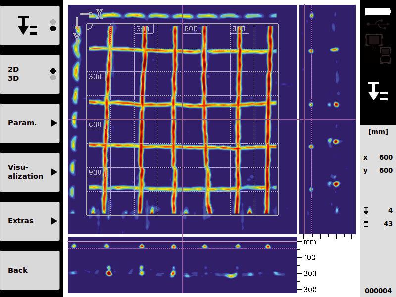 diagnostiquer la structure grâce à un ferroscan