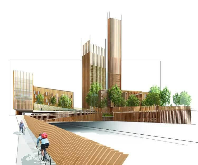 Le projet Baobab, 35 étages en bois au coeur de Paris