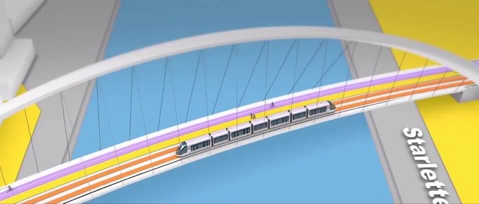 Le pont Citadelle à Strasbourg permettra au tramway, aux piétons et aux cyclistes de rejoindre Kehl en Allemagne