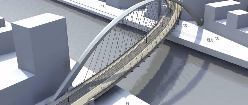 La maquette du pont Citadelle à Strasbourg