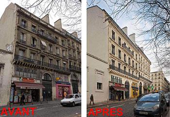 Une rénovation lourde de transformation de bureaux en logement à Paris
